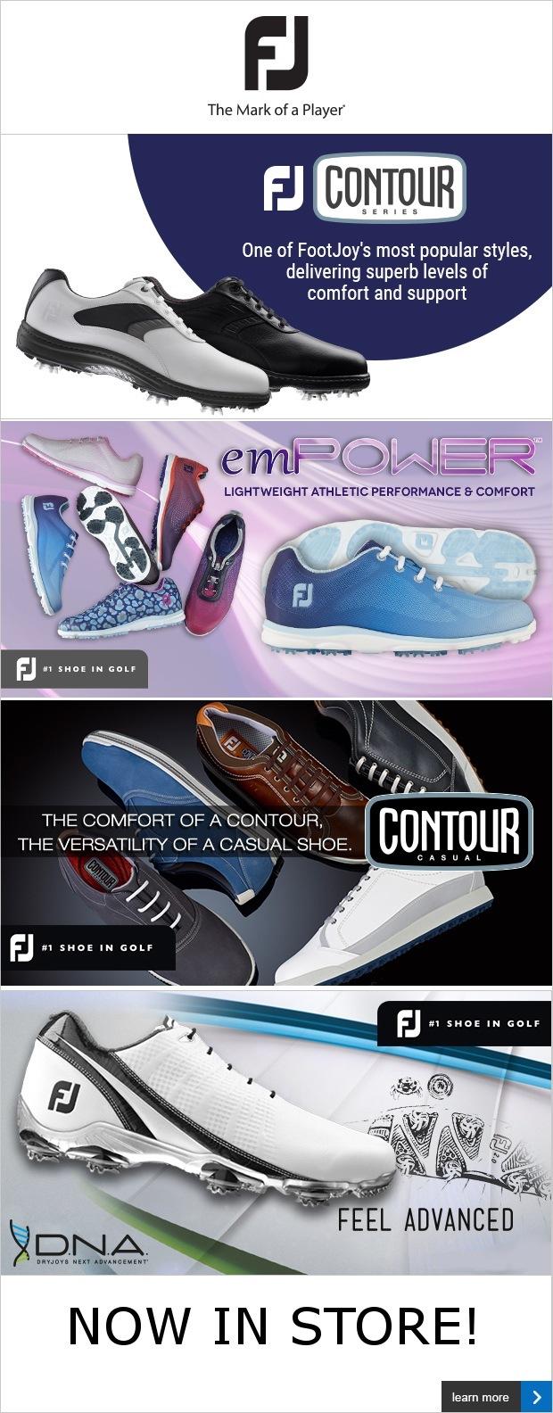 FootJoy shoe range in store now!