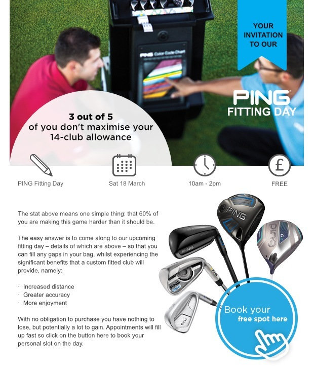 PING fitting day - Sat 18 March - Cumberwell Park GC