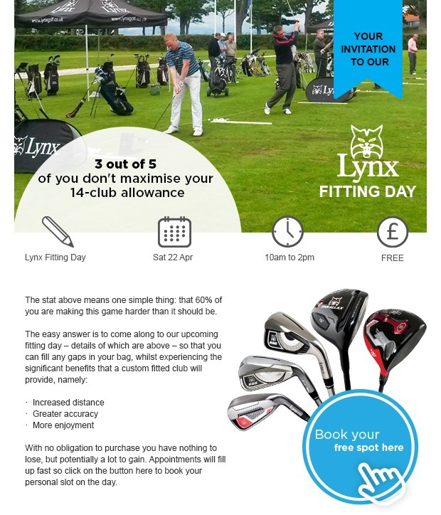 Lynx Fitting Day - Sat 22 April - Book here
