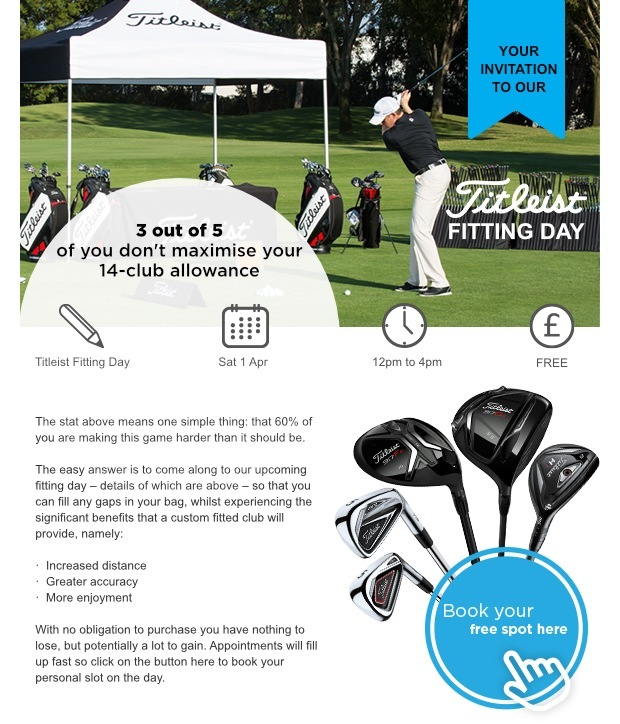 Don't miss our upcoming Titleist Fitting Day!