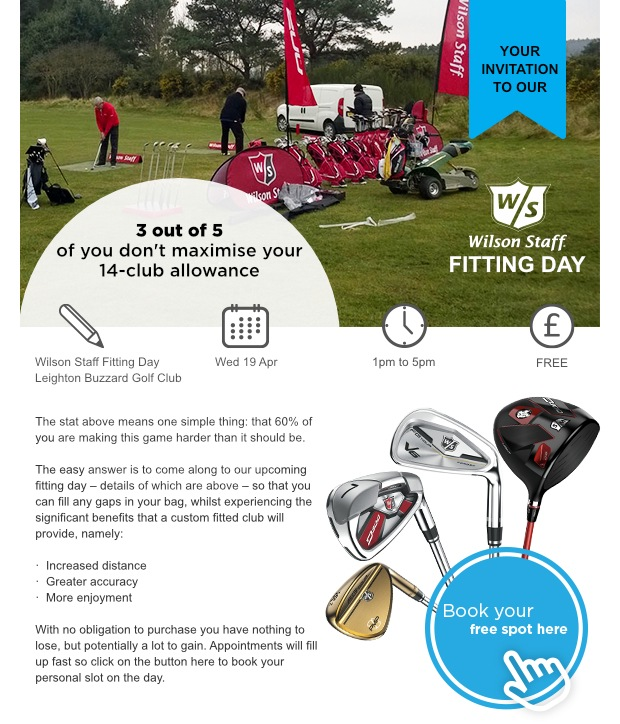 Wilson Fitting Day - Don't Miss Out!