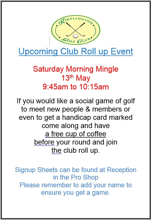 Upcoming Club Roll Up Event