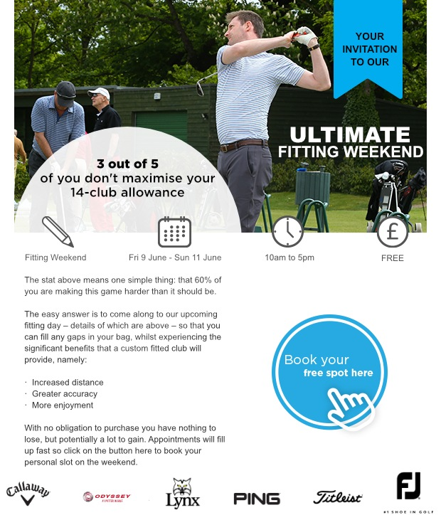 Don't miss our Ultimate Fitting Weekend!