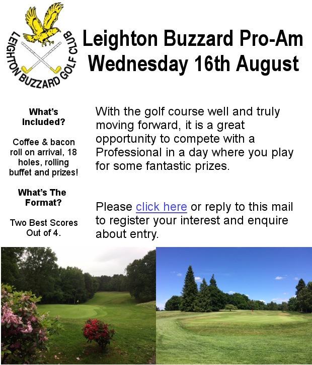 Leighton Buzzard Pro-Am Wednesday 16th August - Register Your Interest!