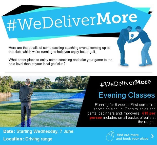 Evening Classes here at Naas GC…