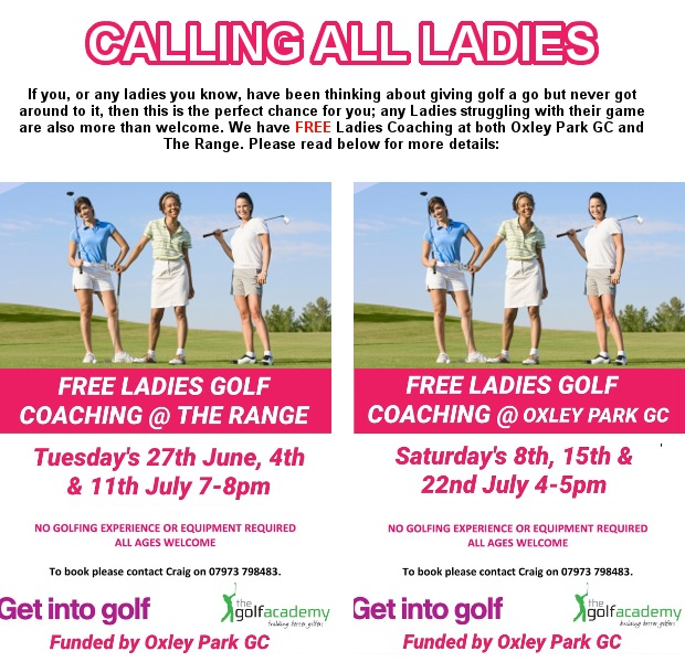 Free ladies coaching - all abilities welcome