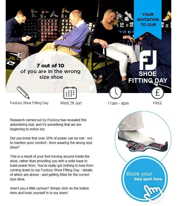 Your invitation to our FootJoy Shoe fitting day
