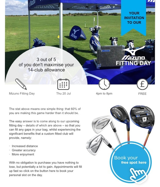 Don't miss our Mizuno fitting day…