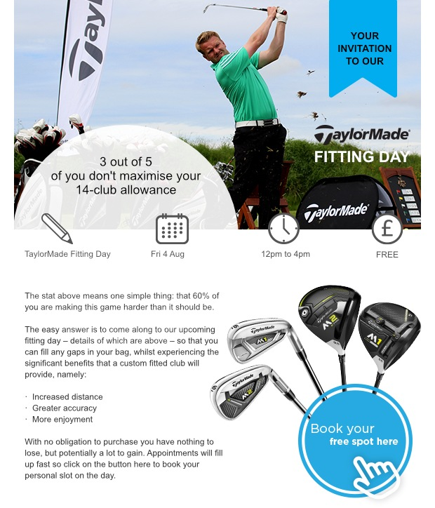 Don't miss our TaylorMade Fitting Day on Friday...