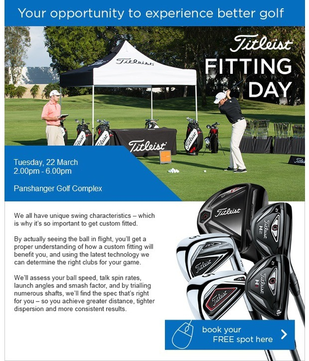 Your personal invitation to our Titleist event