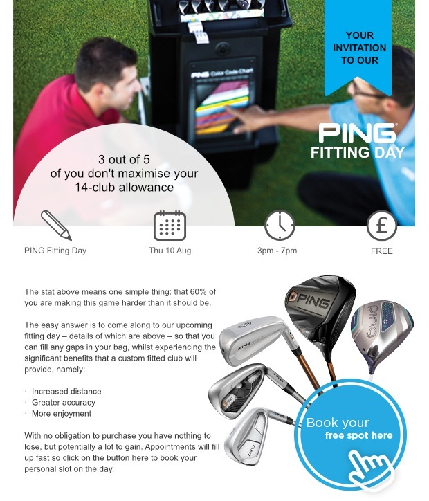 Your invitation to our PING Fitting Day