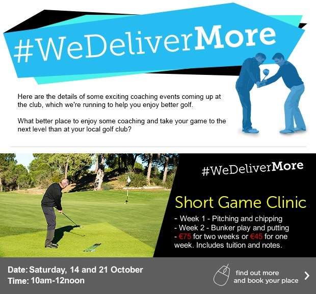 Work on your short game at Naas Golf Club…