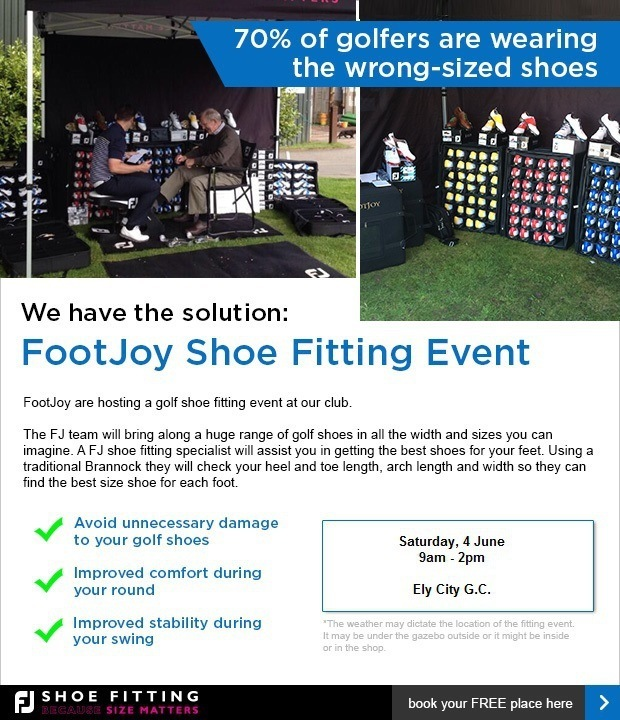 This weekend: FootJoy Fitting Day