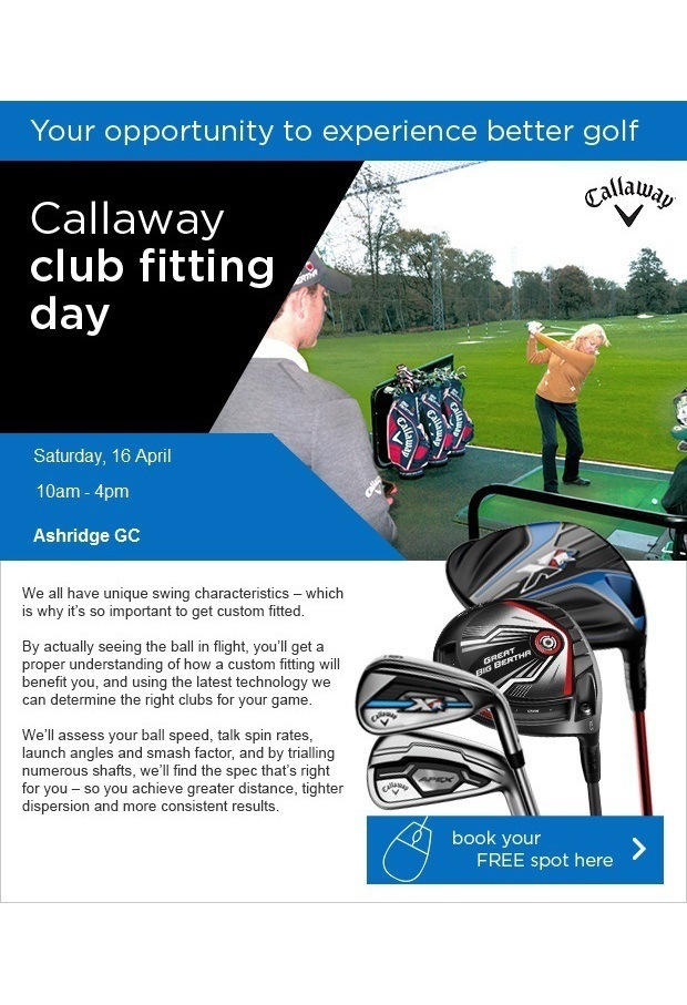 Callaway fitting day - Sign up here (new time)