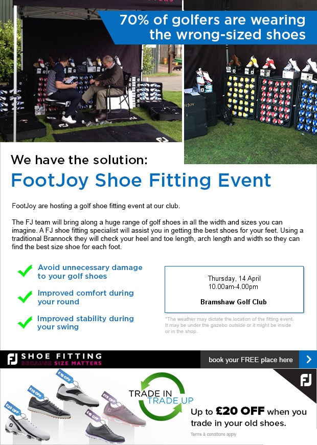 Come enjoy our FootJoy Fitting day