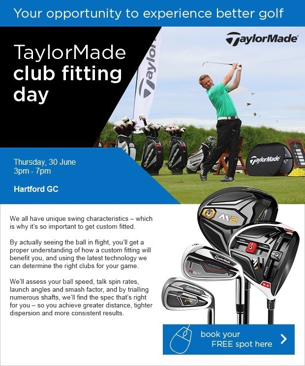 TaylorMade Fitting - Thursday, 30 June - Book here