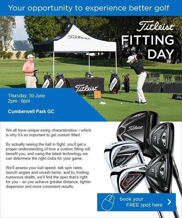 Titleist Fitting - Thursday, 30 June - Book here