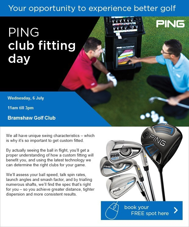 PING club fitting day - Wed 6 July