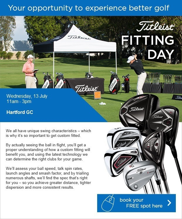 Titleist Fitting Day - Wednesday, 13 July - Book here