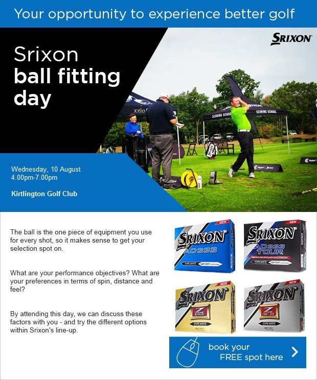Come to our Srixon ball fitting day