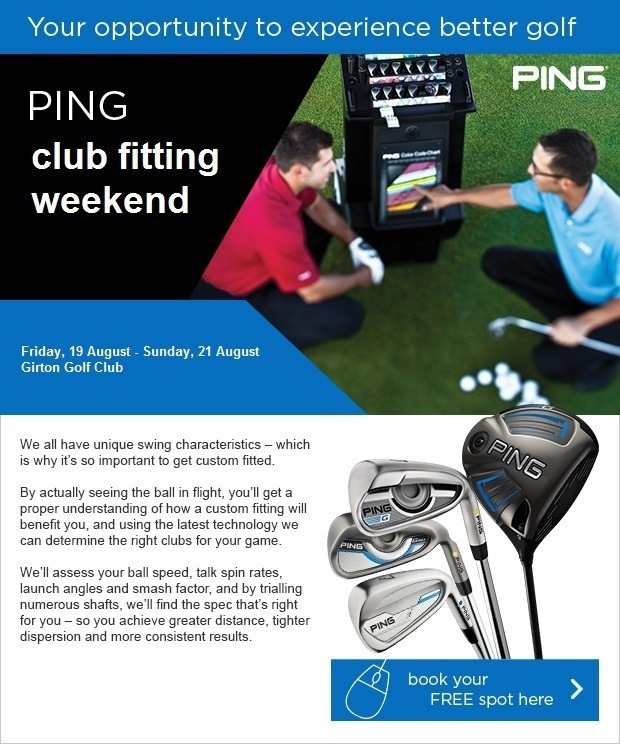 Don't miss our PING Club Fitting Weekend!