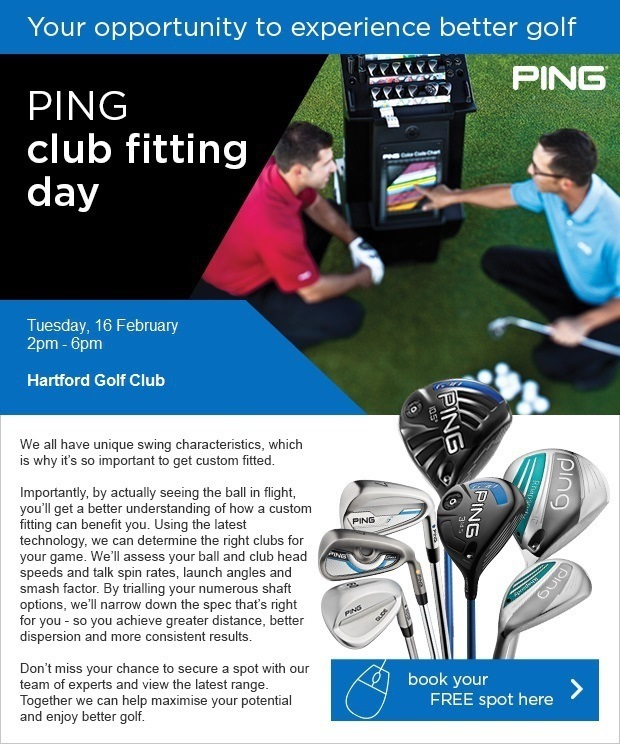 PING fitting day, February, 16 at Hartford GC
