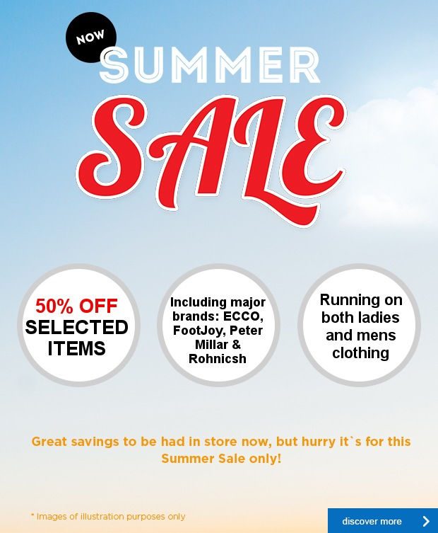 Don't miss our Summer SALE, now on!