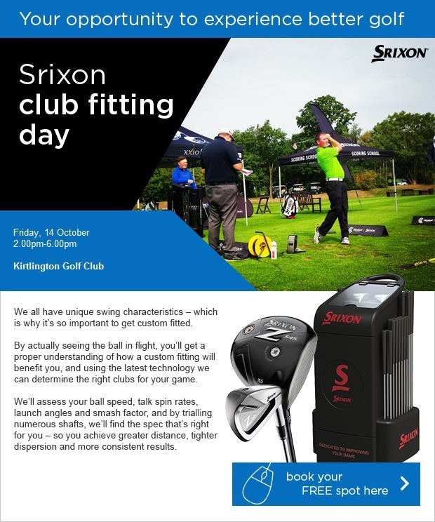Don't Miss Our Srixon Fitting Day