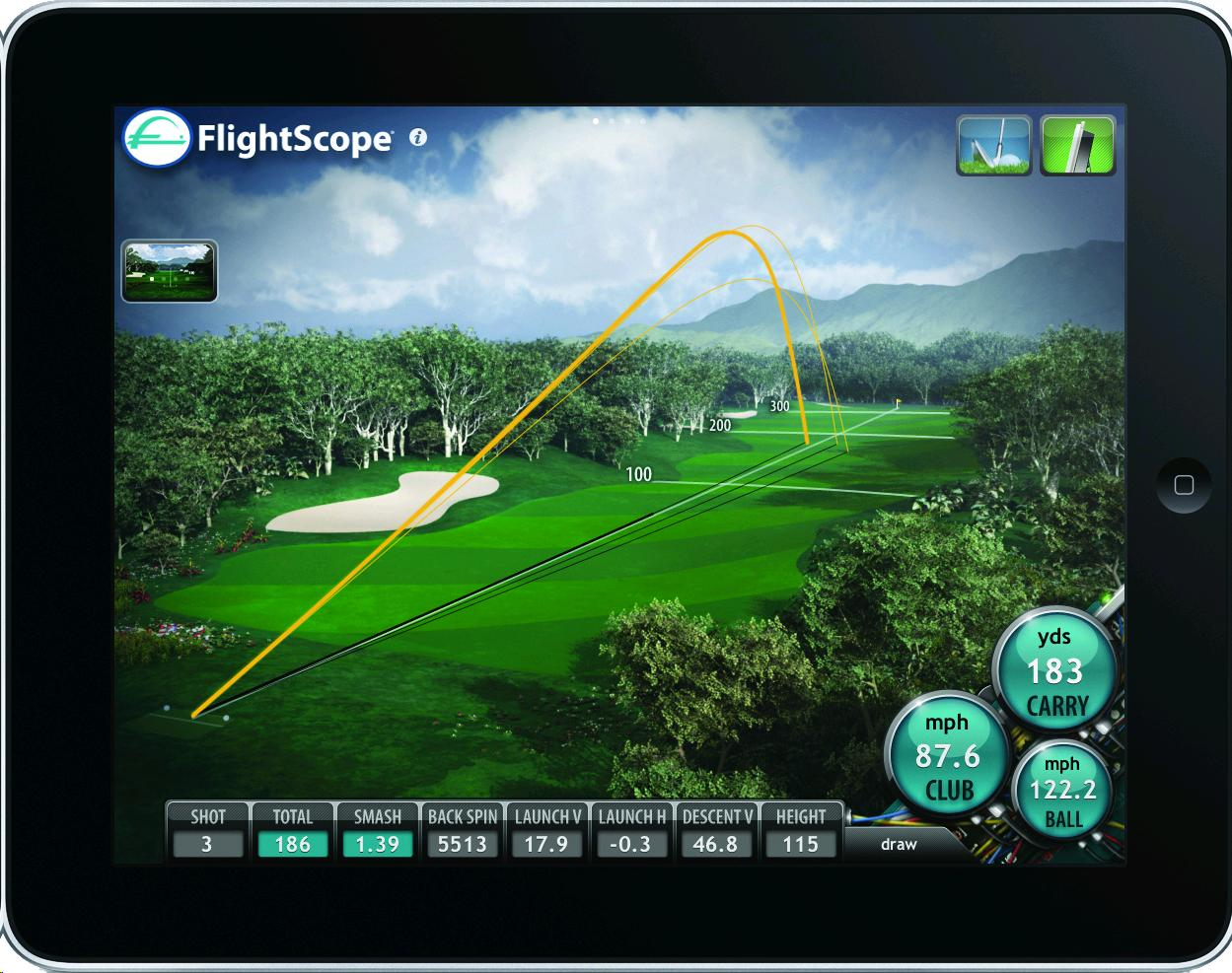 Flightscope data