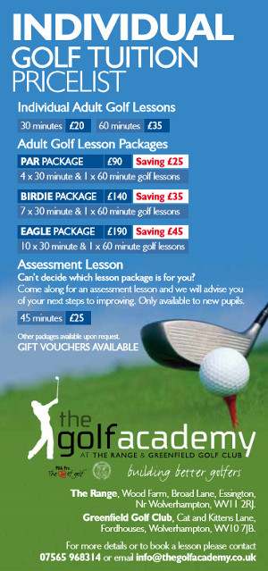 Individual Lesson Prices
