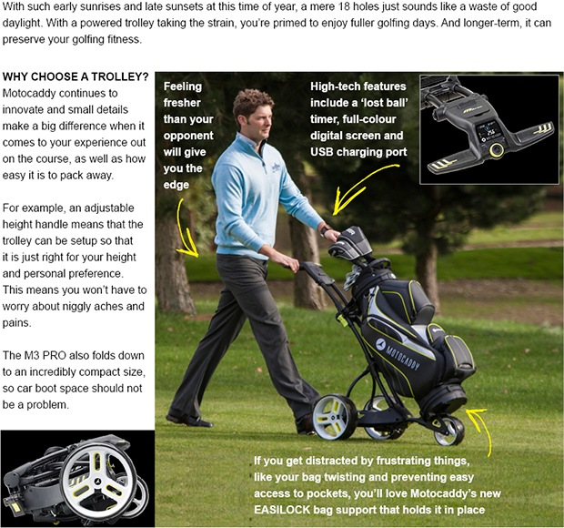 Motocaddy M3 PRO Electric Trolley | Nick Summerfield | Prestbury