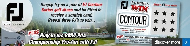 FootJoy Contour try, scratch and win
