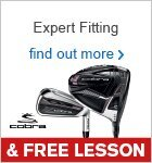 Expert Fitting & Free Lesson with Cobra Clubs