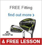 Free Fitting & Free Lesson with Cobra Clubs