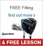 Free Fitting & Free Lesson with TaylorMade Clubs