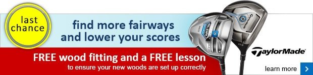 Free fitting and lesson on selected TaylorMade woods
