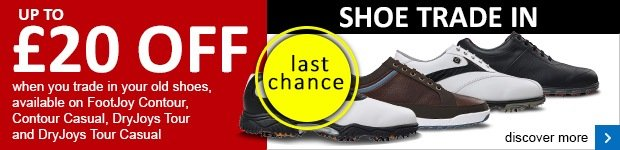 Trade in your old shoes and get up to £20 off a new pair of FootJoy shoes