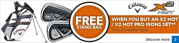 Free X2 Hot stand bag with selected Callaway irons