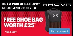 Free Shoe Bag worth £25 with UA HOVR Shoes