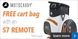 Free cart bag with a Motocaddy S7 REMOTE