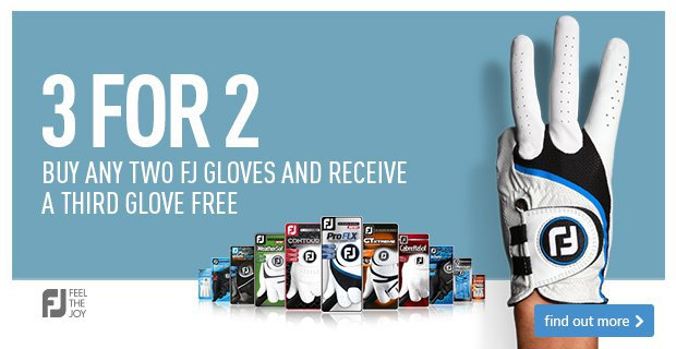 3 for 2 on selected FJ gloves