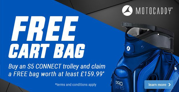 Motocaddy free bag promo