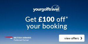 Your Golf Travel | Get £100 Off* Your Booking