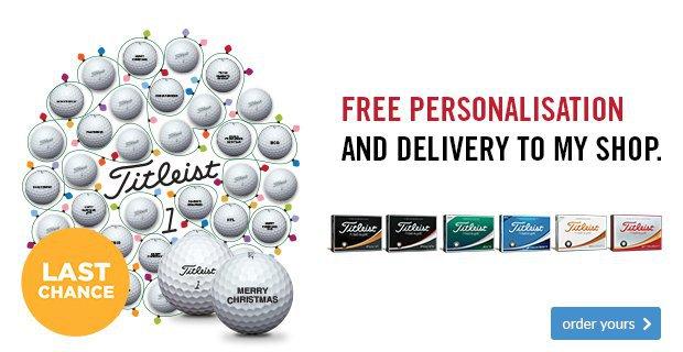 Titleist Free Ball Personalisation
