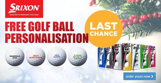 Srixon Free Ball Personalisation