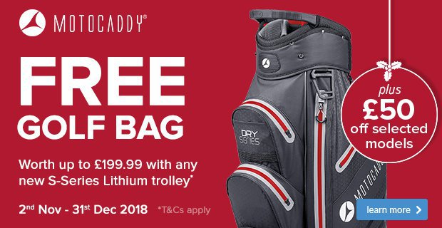 Motocaddy Free Golf Bag Offer