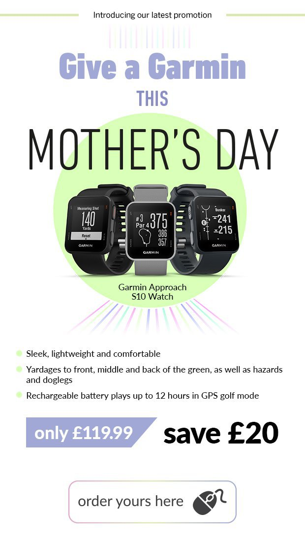 Give a Garmin this Mohter's Day.