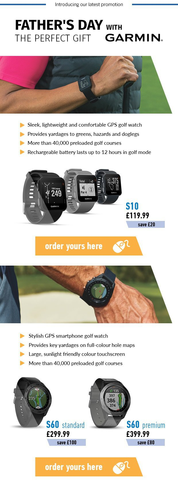 The Perfect Father's Day gift from Garmin.