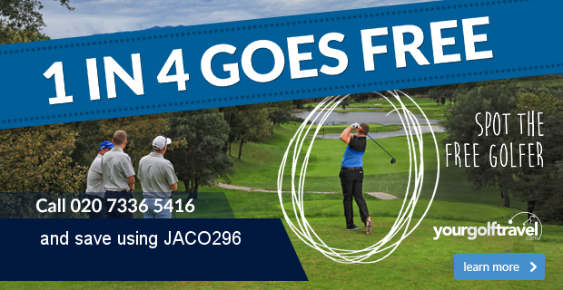 Your Golf Travel   1 in 4 Goes Free