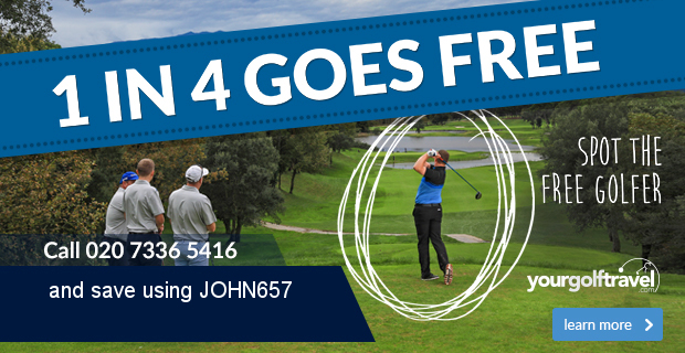 Your Golf Travel | 1 in 4 Goes Free